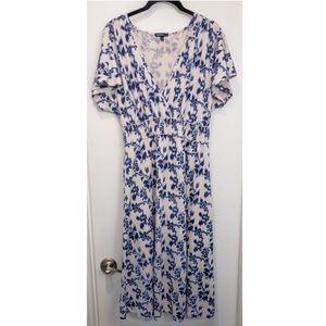 GAP Maternity Smocked Ikat Floral Empire Dress